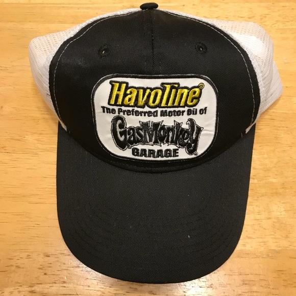 7beeedc8e07e8 Havoline Gas Monkey Garage Trucker Hat Black White.  M 5a9332683800c5b8c18c0af8